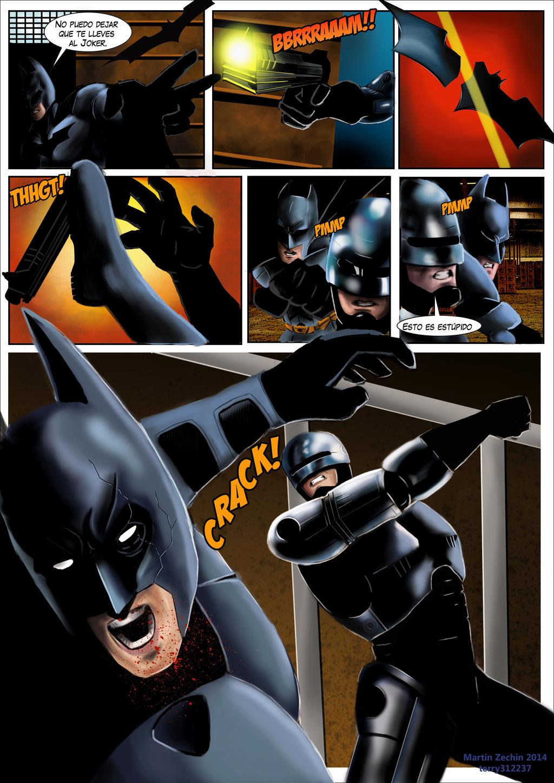 Dibujé un comic de Batman y Robocop. - Arte - Taringa!