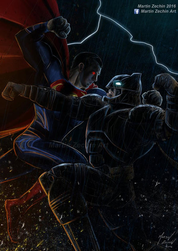 Batman v Superman by terry312237