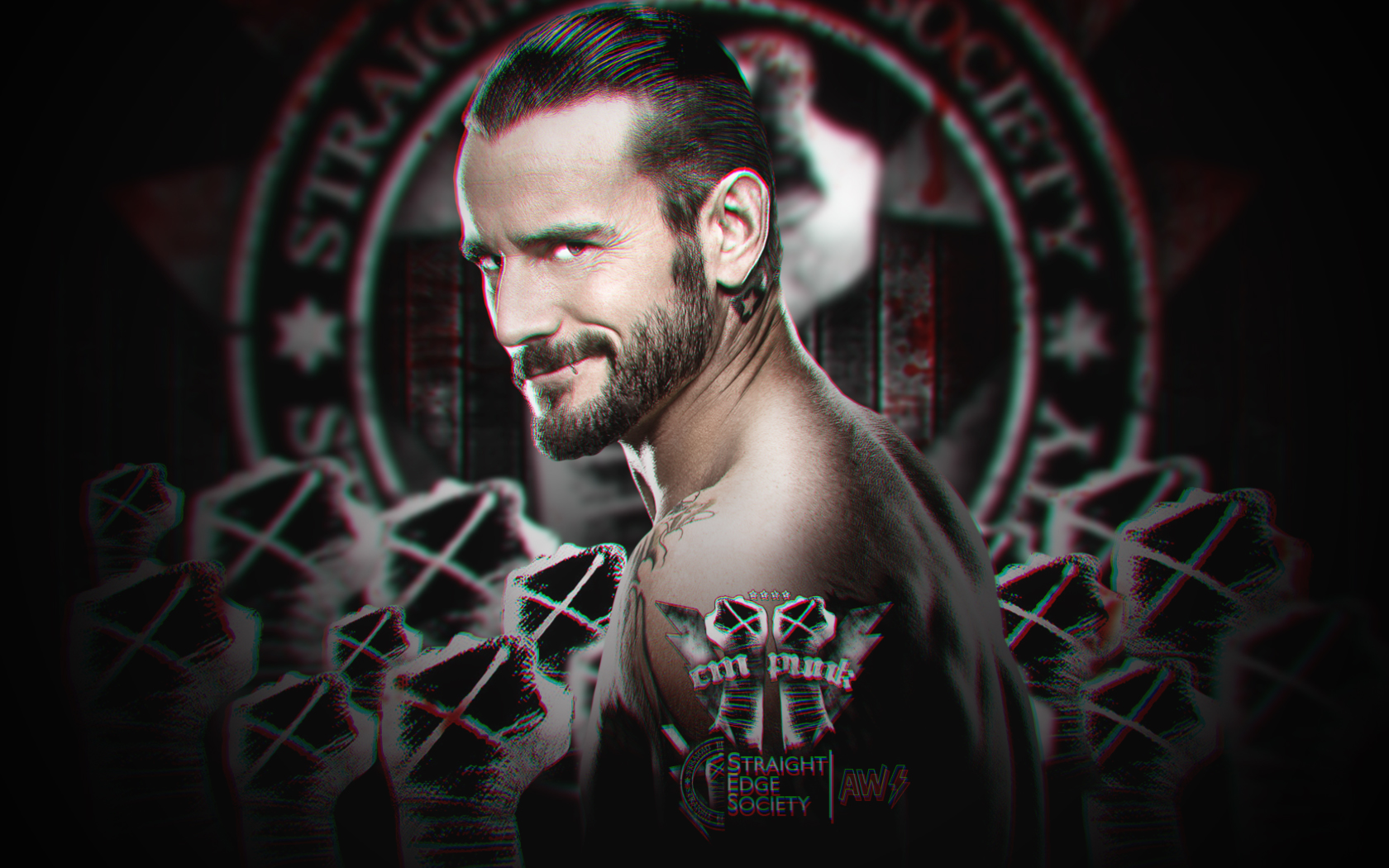New WWE 3D Wallpaper CM Punk By AW-Edition By AW-Edition