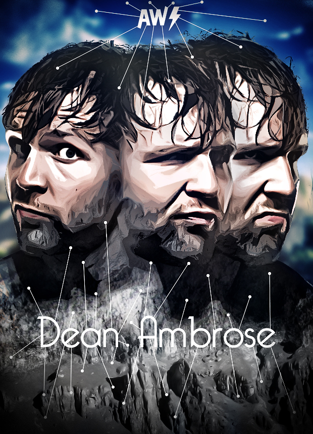 dean ambrose poster 2013 aw edition by aw edition on deviantart