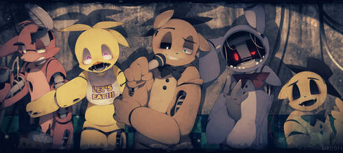 They are just parts (FNAF2) by Apricot4
