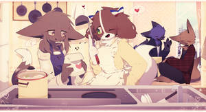 During cooking (My OC's) by Apricot4