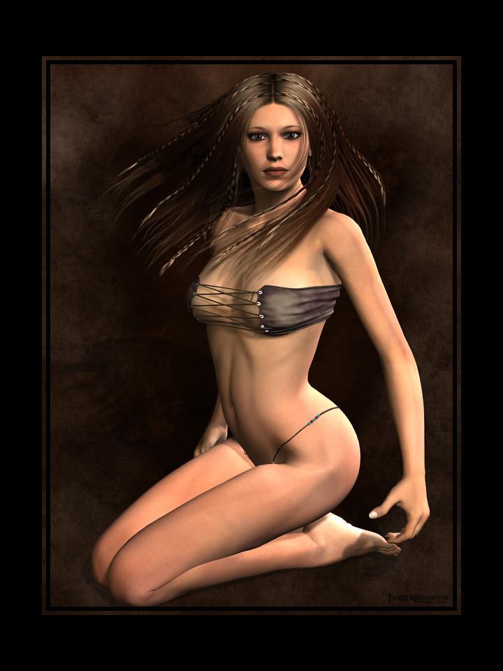 Native girl by Gwasanee
