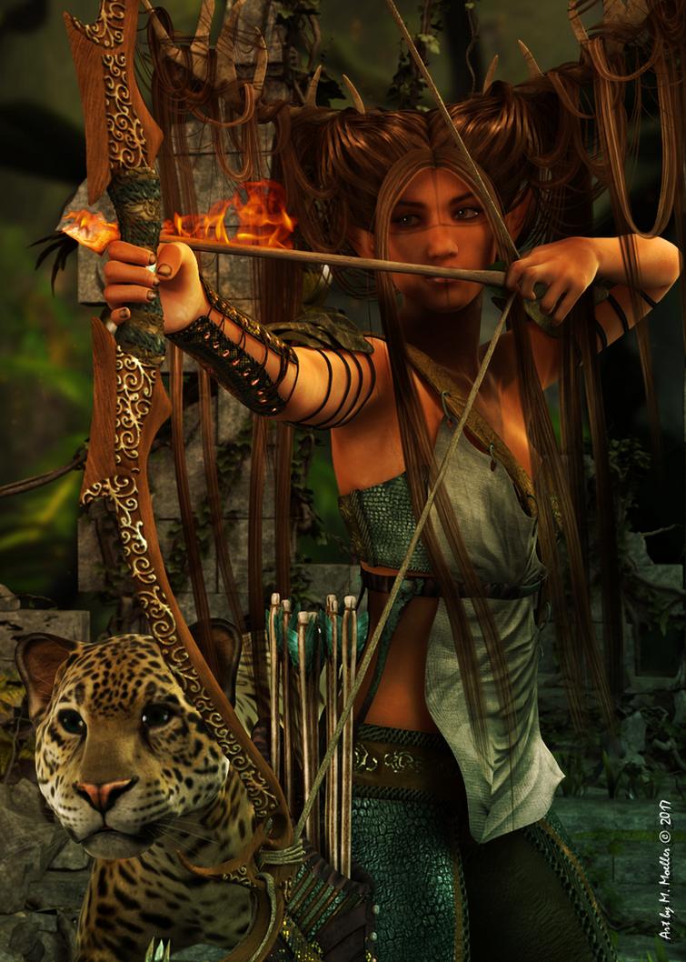 The Archer by Gwasanee