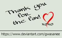 Thanks N by Gwasanee