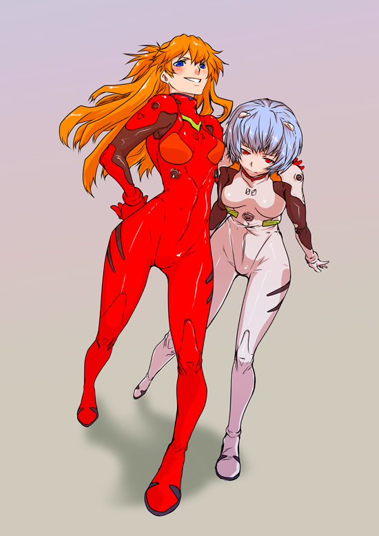 Asuka and Rei by periwinkleimp