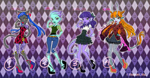 AUCTION - Monster High OC Set 1 [CLOSED]