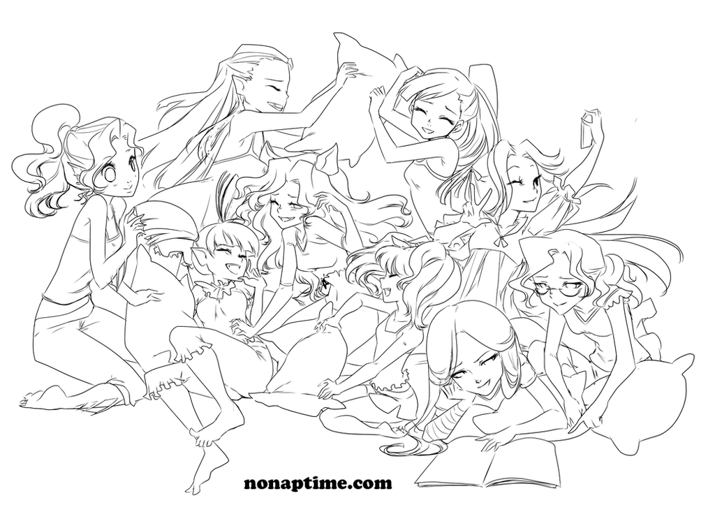 Sleepover Party Coloring Pages Coloring Pages