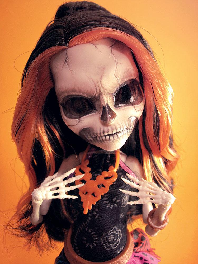 MH Custom - Scary Skelita by periwinkleimp