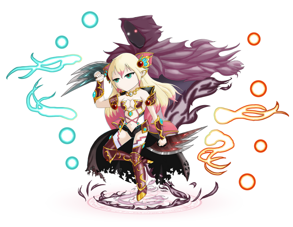 Brave Frontier Character Design Contest : Brave frontier art contest dark harbinger brielle by lady