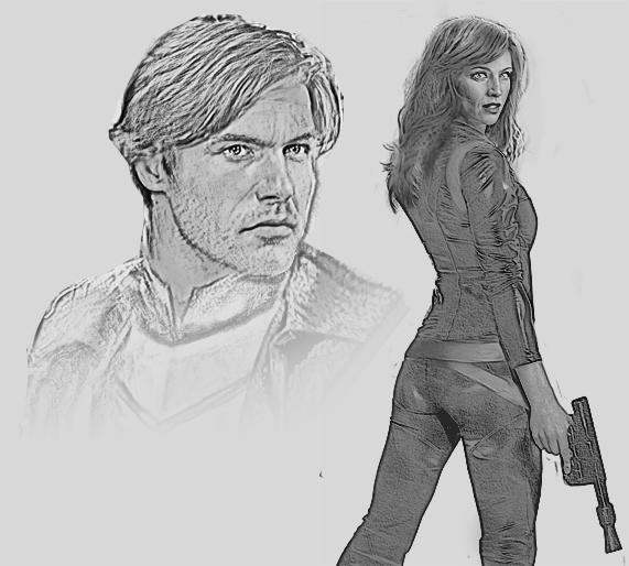 Jacen Solo + Mara Jade Sketch by saith100