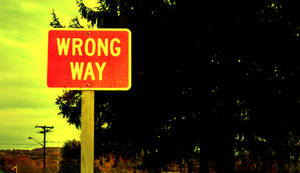 wrong way sign by squee43-stock