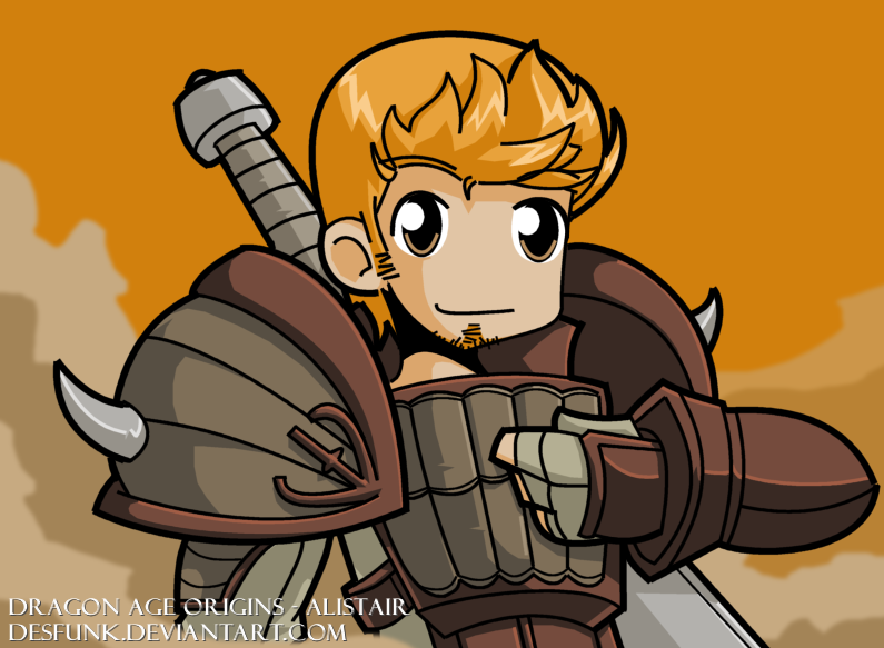 Dragon Age Origins Alistair by ~desfunk on deviantART