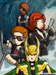 Avengers Assemble Group 2 by desfunk