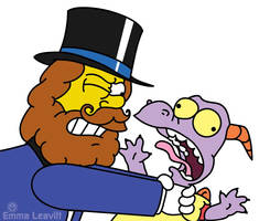 Dreamfinder and Figment/Simpsons Crossover