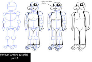 Penguin anthro tutorial part 2 by Enricthepenguin92