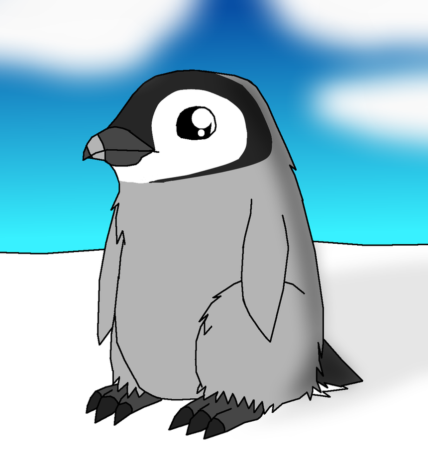 real emperor penguin chick by enricthepenguin92