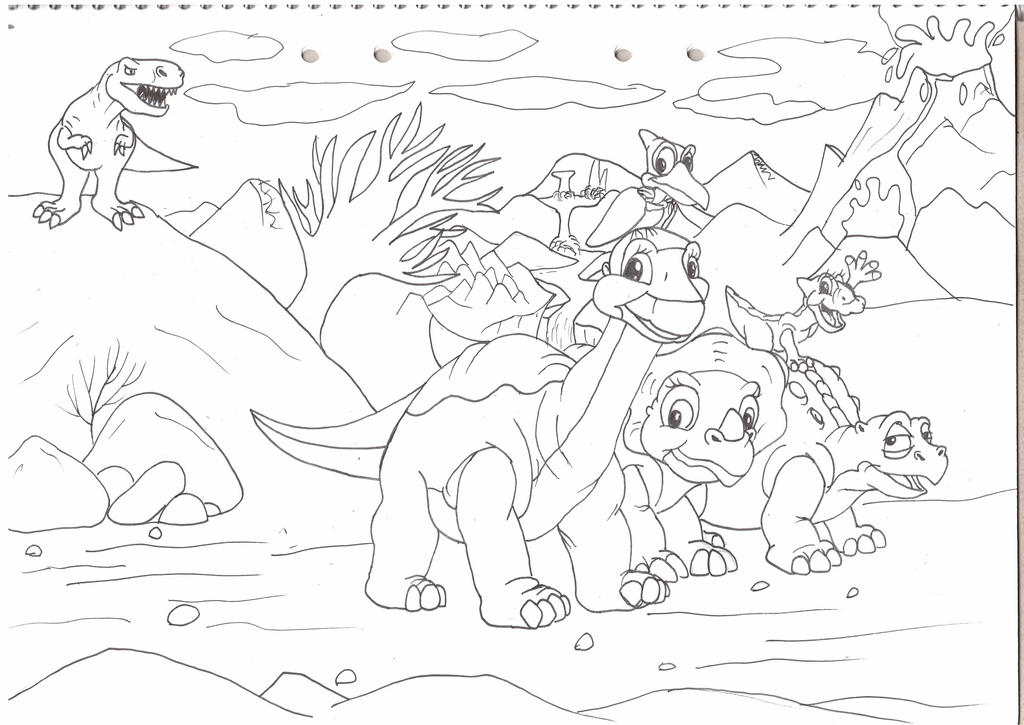 Cera land before time coloring page coloring pages for The land before time coloring pages