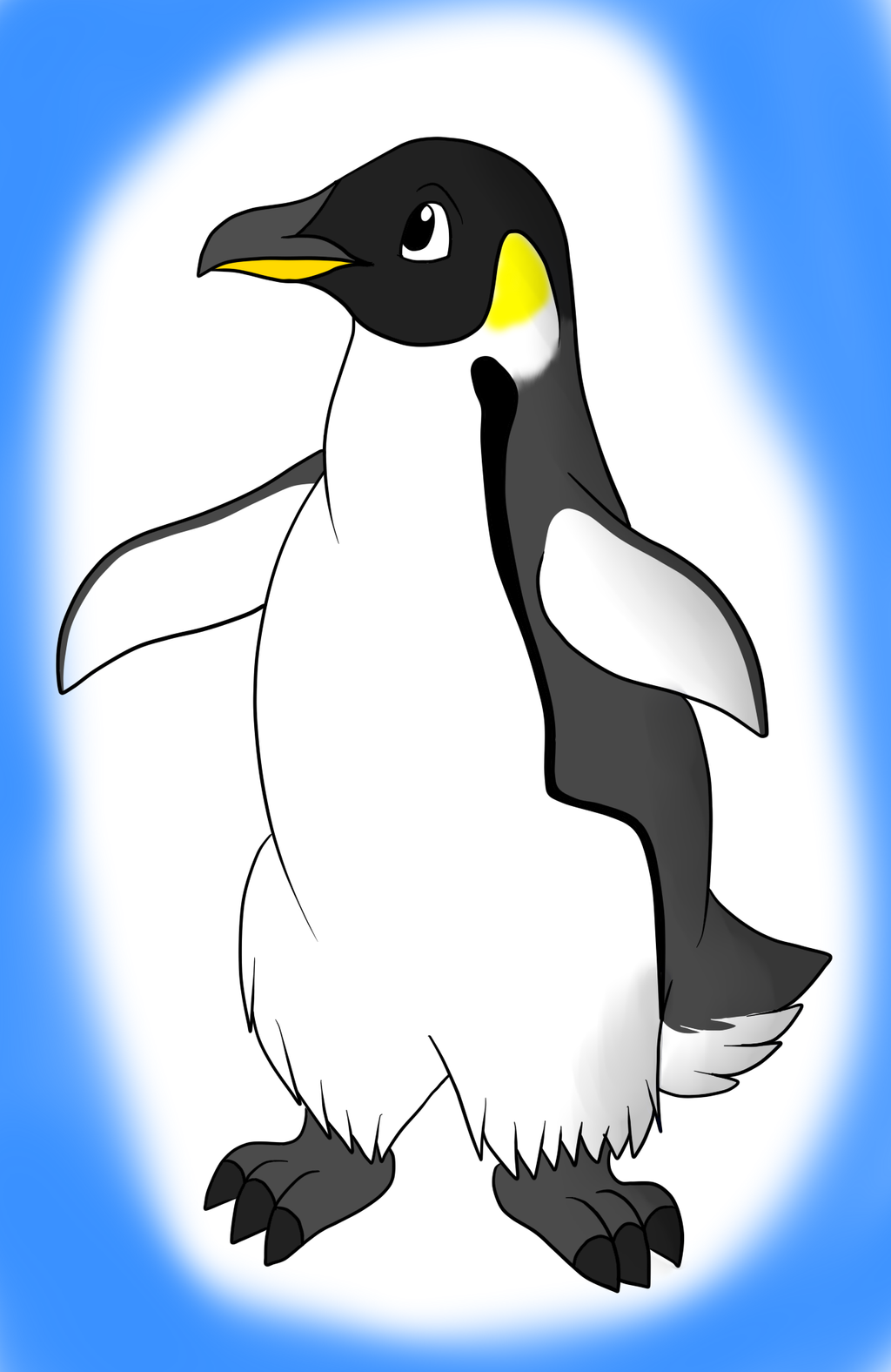 Пингвины картинки нарисованные