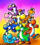 Yoshi and his friends!