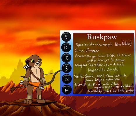 Ruskpaw reference sheet