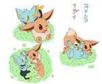 Eevee and Shinx