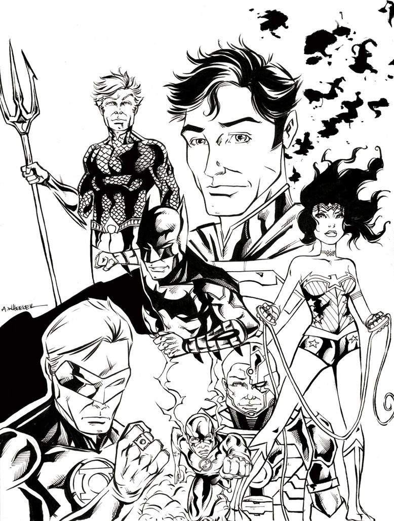 The DCnU Justice League by wheels9696