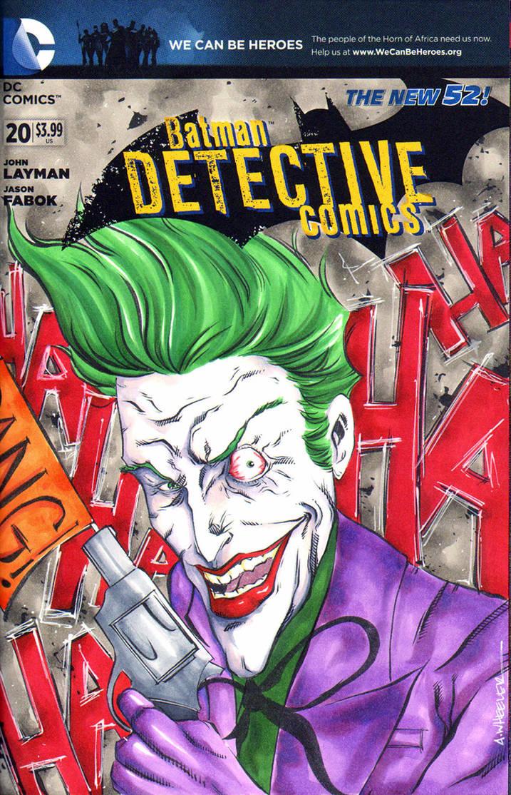 Joker Sketch Cover from DC Comics