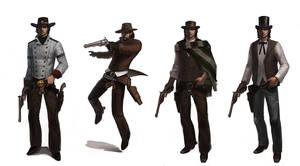 Six Guns MC outfit variants