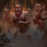 zombie goblin horde by texahol