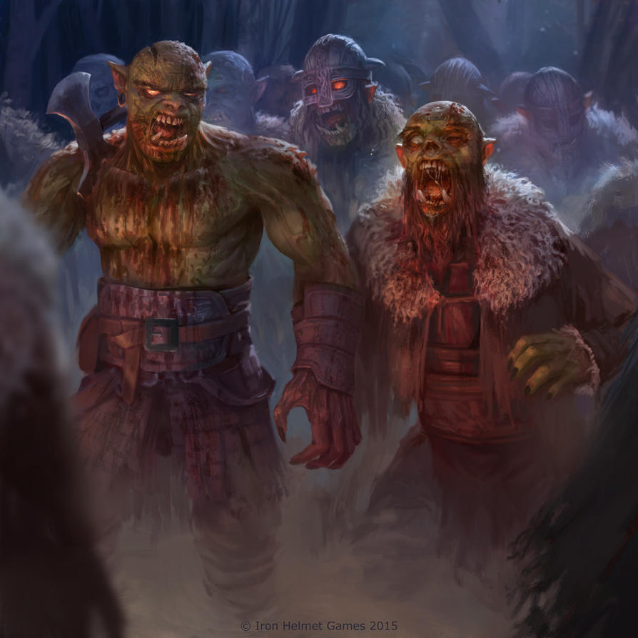 Zombie Horde Art zombie orc hord...