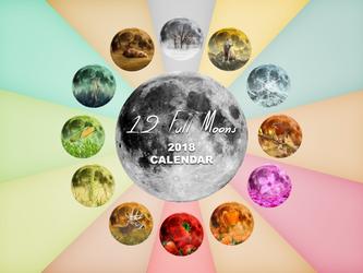 12 Full Moons - 2018 Calendar by Loupii
