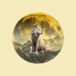 12 Full Moons 2018 - January - Wolf Moon by Loupii