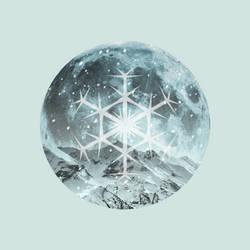 12 Full Moons 2018 - February - Snow Moon by Loupii