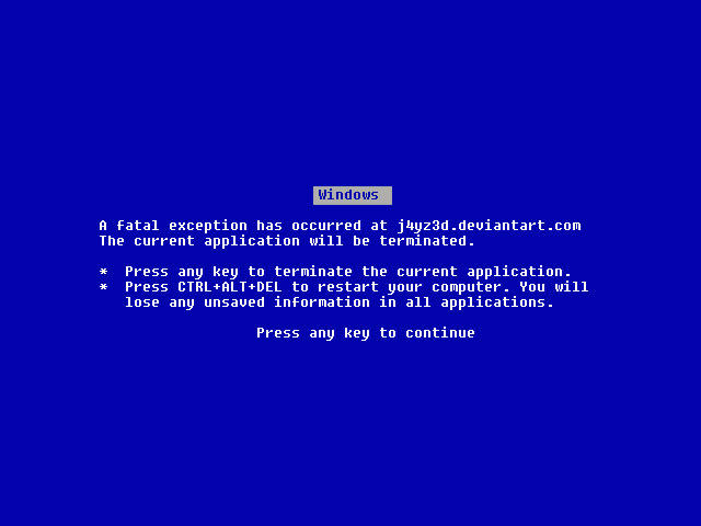 My BSoD by J4yZ3d