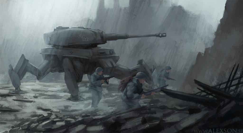 WW2 Tiger mech by alexson1
