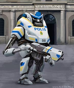 Swedish police mech