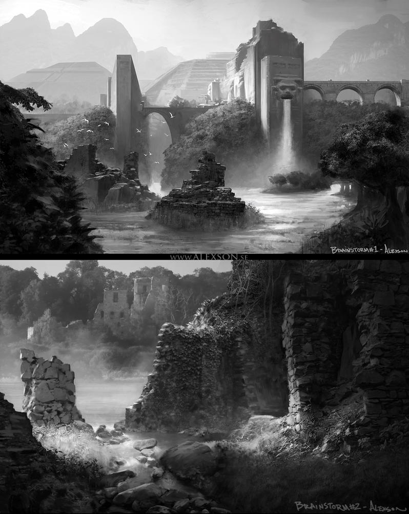 Jungle ruins by alexson1