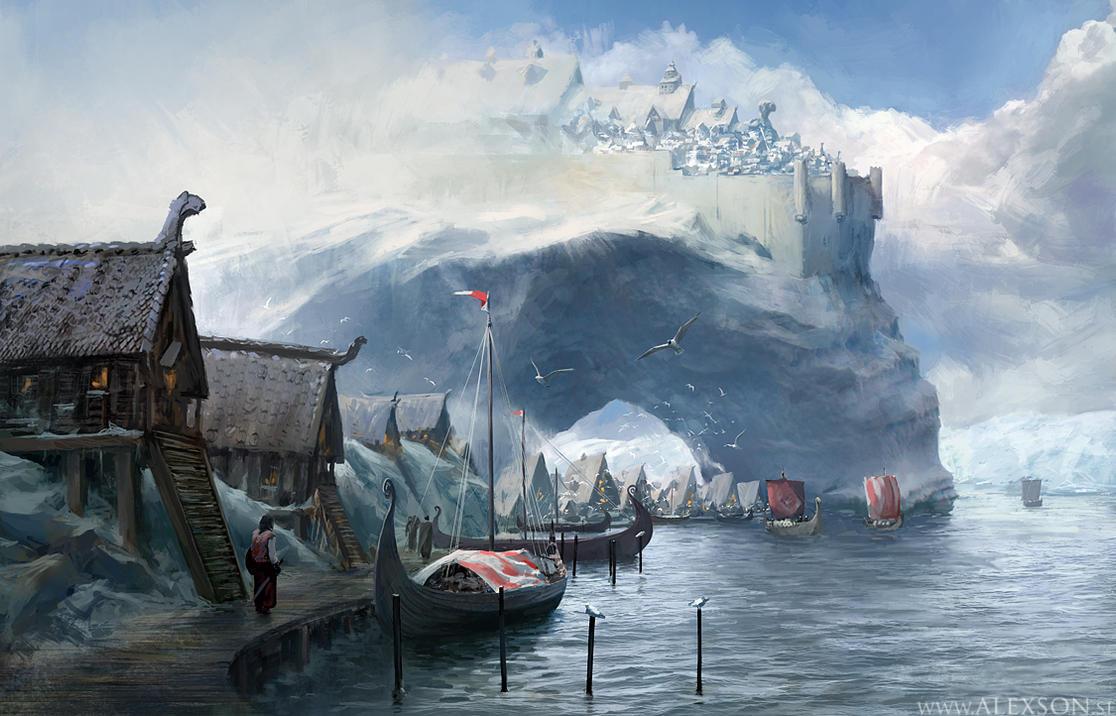 Viking harbor by alexson1