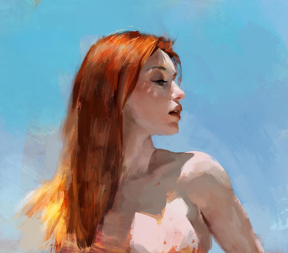 Practice portrait by alexson1