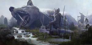 Fenrir the great wolf by alexson1