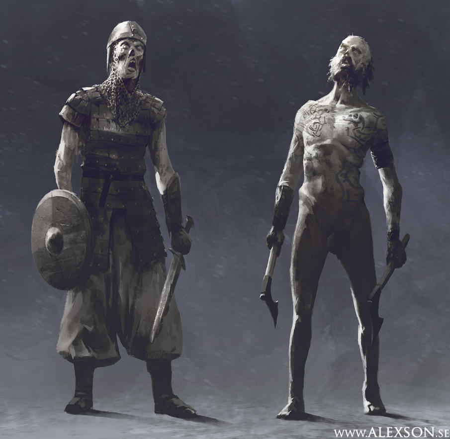 Undead viking soldiers by alexson1