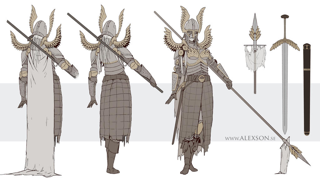 Valkyri daughter concept art by alexson1
