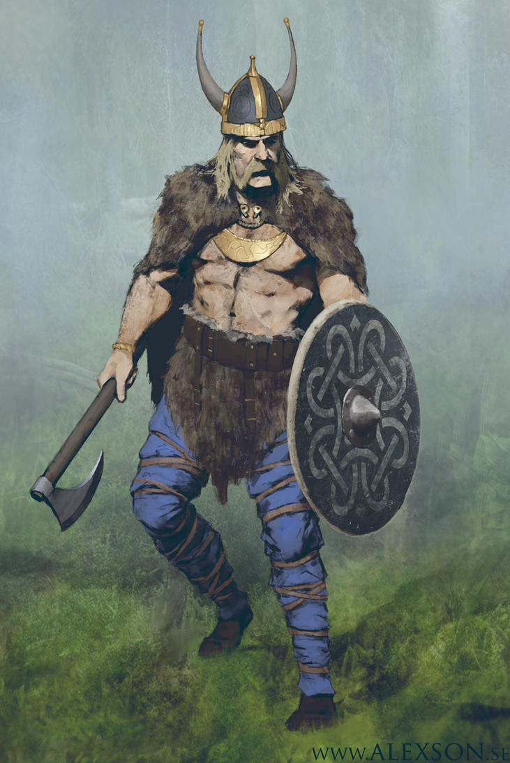 Viking leader concept art by alexson1