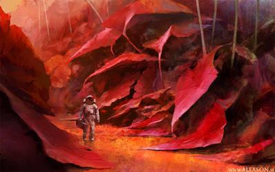 Kepler 186-f #1 by alexson1