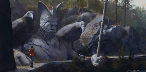 Odin statue