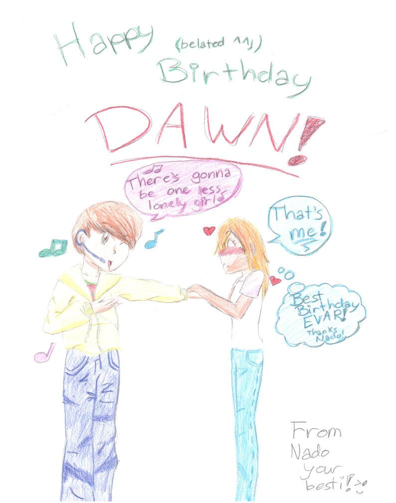 Happy 13th Birthday by Nado by dawnthebest123