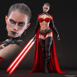 Dark Side Rey - Darth Rey Double Bladed Lightsaber