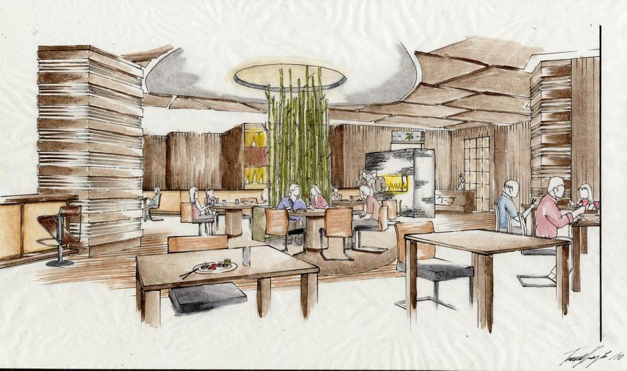 Sushi restaurant design by whatistug on deviantart