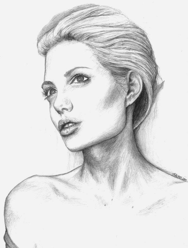 Angelina Jolie By Drawing-You-In On DeviantArt